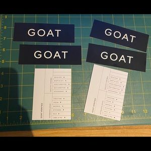 2 GOAT Stickers & 2 Checklists